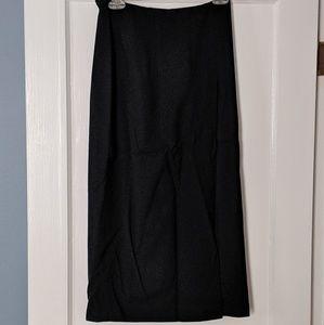 Ann Taylor 100% wool long black skirt